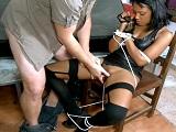Noemilk es la esclava sexual de fantasía de unos franceses salidos - Interracial