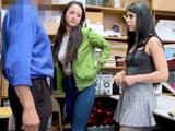 El encargado de la tienda las pilla robando: follada en la trastienda - XXX