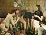 Trio porno casero madre e hija: porno vintage de los años 90 - Vintage