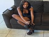 Después de la ducha a mi novia ebony la follo a cuatro patas - Negras