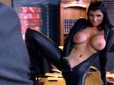 Entró en su despacho y se la encontró del esa guisa .., pufff !! - Interracial