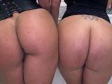 Trío con dos culonas latinas como Becca Diamond y Vanessa Luna - Latinas