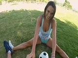 Lily Love follada en POV después de echar un buen partido de fútbol - POV