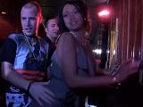 La ebony Harley Dean follando duro en el VIP de una discoteca - Negras