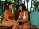 Rachel Starr y Lisan Ann, hacen de lesbianas y después se montan un trío - Trios
